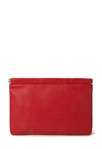 Pebbled Faux Leather Clutch. Available in red, black, brown. Forever 21. $14.90.