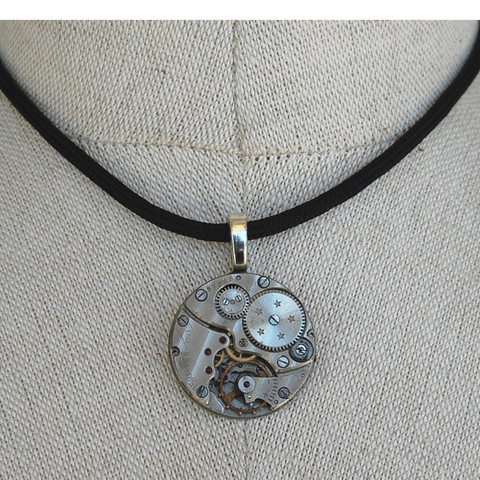 Vintage Watch Part Pendant made in the USA by Teresa DeLeen. TomboyX. $58.
