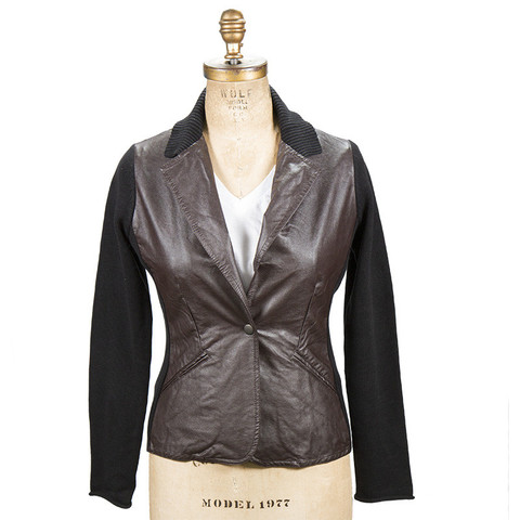 Damask Faux Leather Coated Blazer. TomboyX. $175.