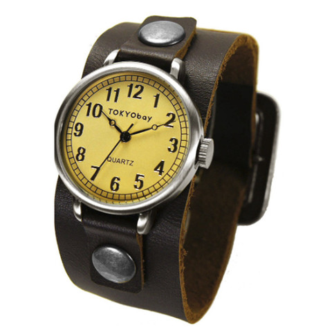 TOKYObay Century Watch. Chocolate. TomboyX. $80.