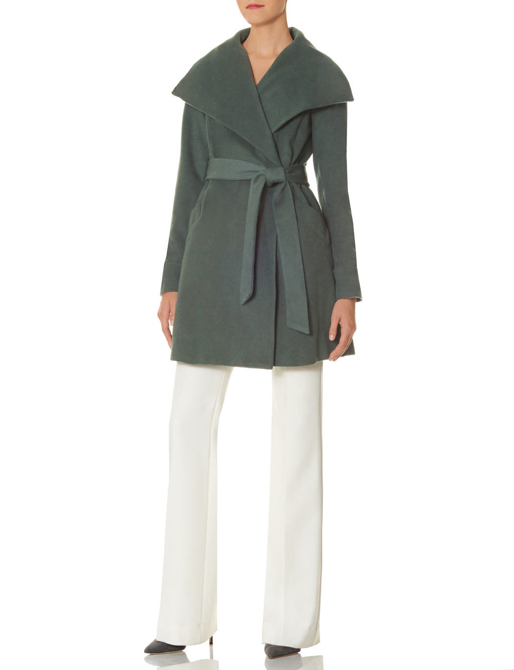 Scandal isn't as good as it used to be, but the clothes in the Scandal Collection for the Limited are glorious and sophisticated. Drape Collar Wrap Coat. Available in pink, sage green. The Limited. $248.