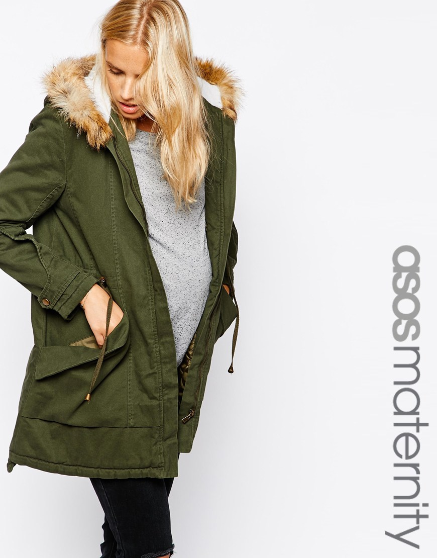 ASOS Maternity Exclusive Parka with Detachable Fur Collar. ASOS. $142.82.