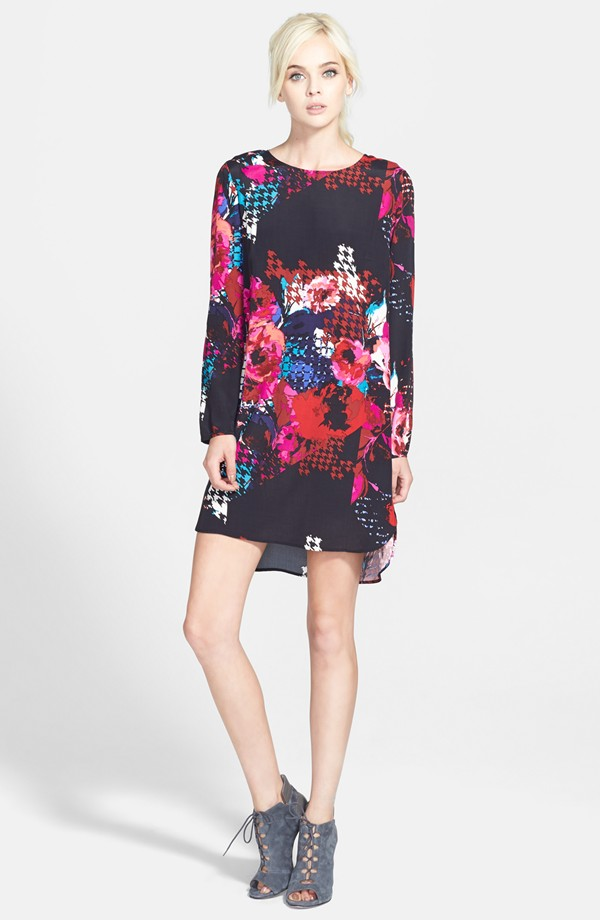 Wayf Long Sleeve Crepe Shift Dress. Nordstrom. $59.