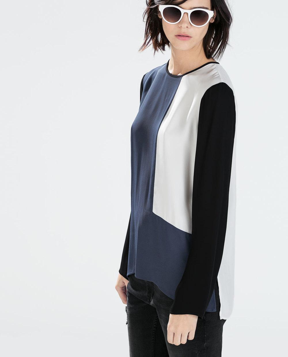 Tri Color Top. Zara. $79.90.