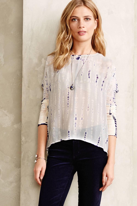 Tritik Silk Pullover. Anthropologie. $198.