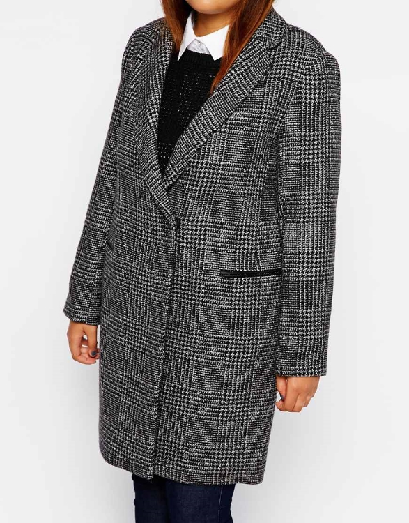 New Look Inspire Check Coat. Asos.com. $113.68
