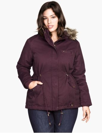Parka with Pile Lining. Also comes in Black and Khaki. H&M.com. $79.95