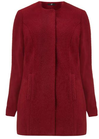 Evans Berry Collarless Coat. Evansusa.com $145.00