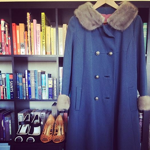 My May 2014 Clothing Swap finds including that glorious blue coat sans the stain!