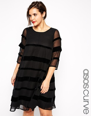 Swing Dress with Velvet. ASOS.com. $123.18