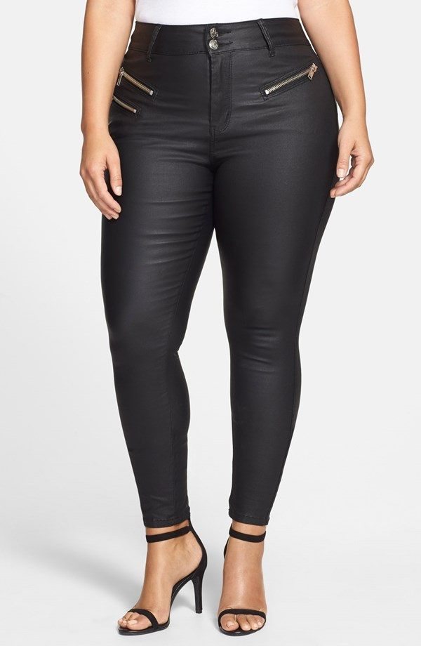 City Chic Wet Look Skinny Jean. Nordstrom. $89.95