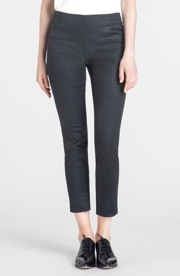 Lafayette 148 New York Stanton Croc Embossed Ankle Pants. Nordstrom. $298.50.