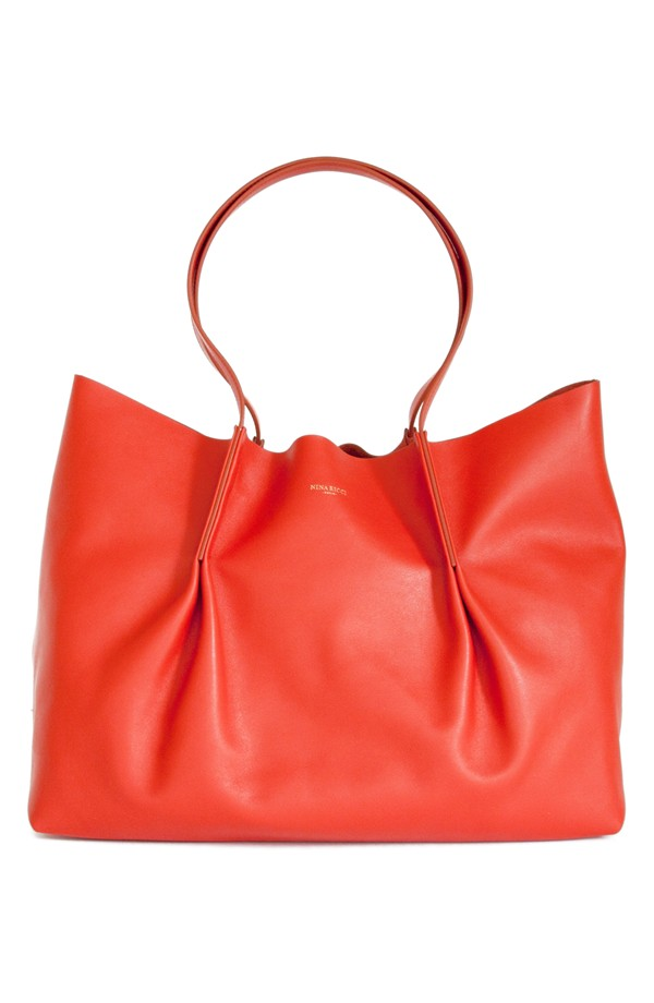 Nina Ricci Ondine Leather Shopper. Available in vermilion (Yes!) and noir. Nordstrom. $990.