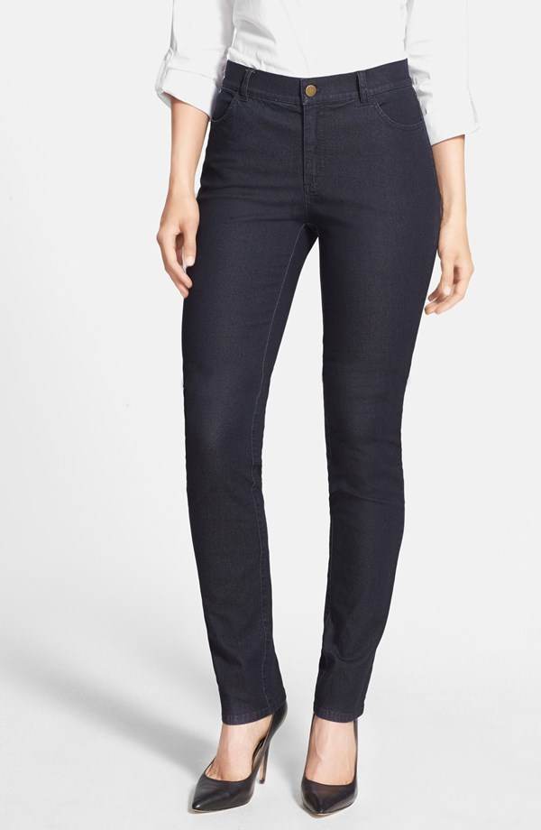 Lafayette 148 New York Primo Denim Curvy Fit Slim Leg Jeans. Nordstrom. $198.