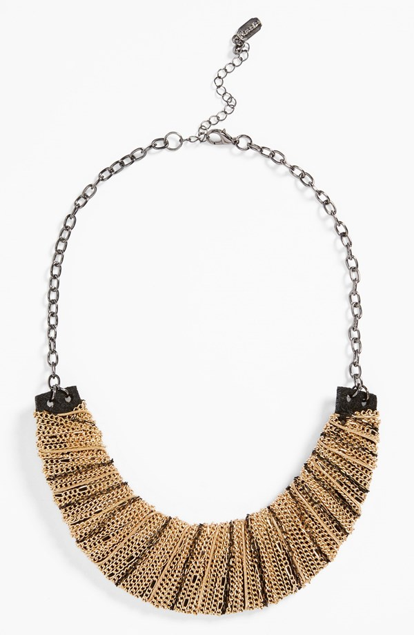 Natasha Couture Chain Wrap Bib Necklace. Available in gold, silver. Nordstrom. $38.