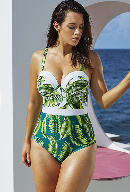 Paradise Found Underwire One Piece. Swimsuitsforall.com. $98