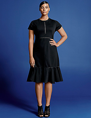 Isabel Toledo Flounce Hem Dress. Lane Bryant. $168