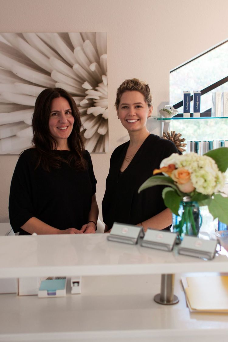 Members of the Cake Skincare Team: (left) Office Manager Alexis Walsh and (right) Owner, Katrina Rising.