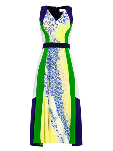 Vapor Contrast Panel Dress. Peter Pilotto. Matchesfashion. $1,602.