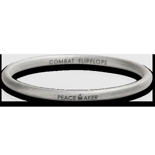 Peace Maker Bangle. Combat Flip Flops. $50.