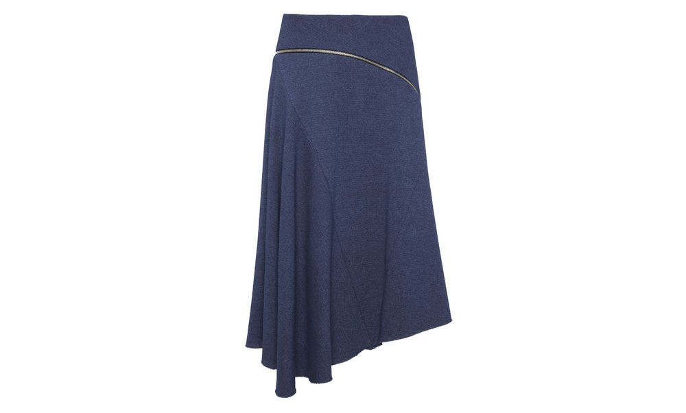 Textured Chambray Zip Skirt. Whistles. $280.