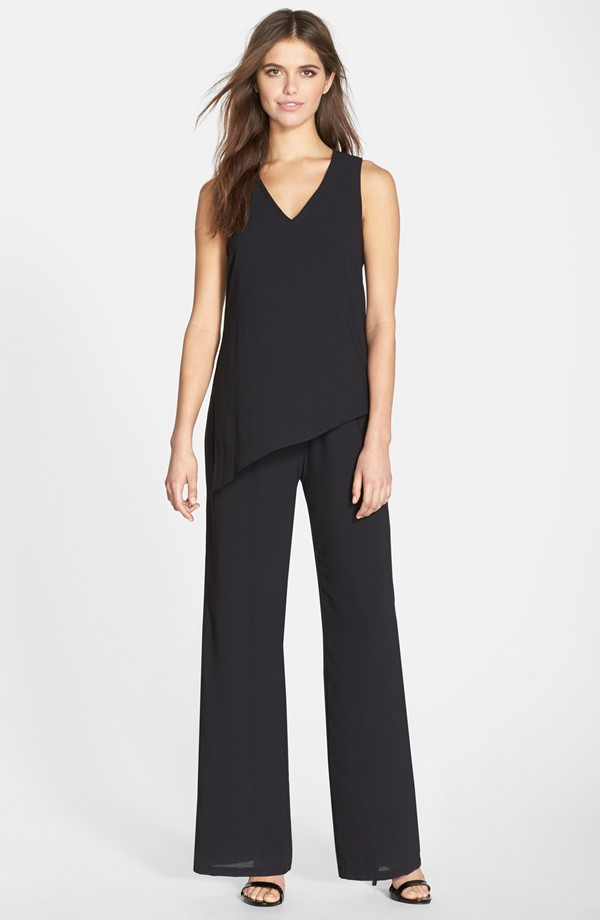 Liberty Sage Asymmetrical Layered Crepe Jumpsuit. Nordstrom. $170.