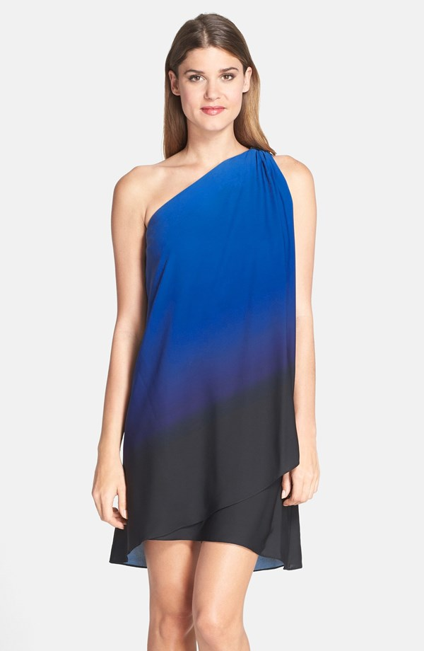 Halston Heritage Asymmetrical One Shoulder Dress. Nordstrom. $375.