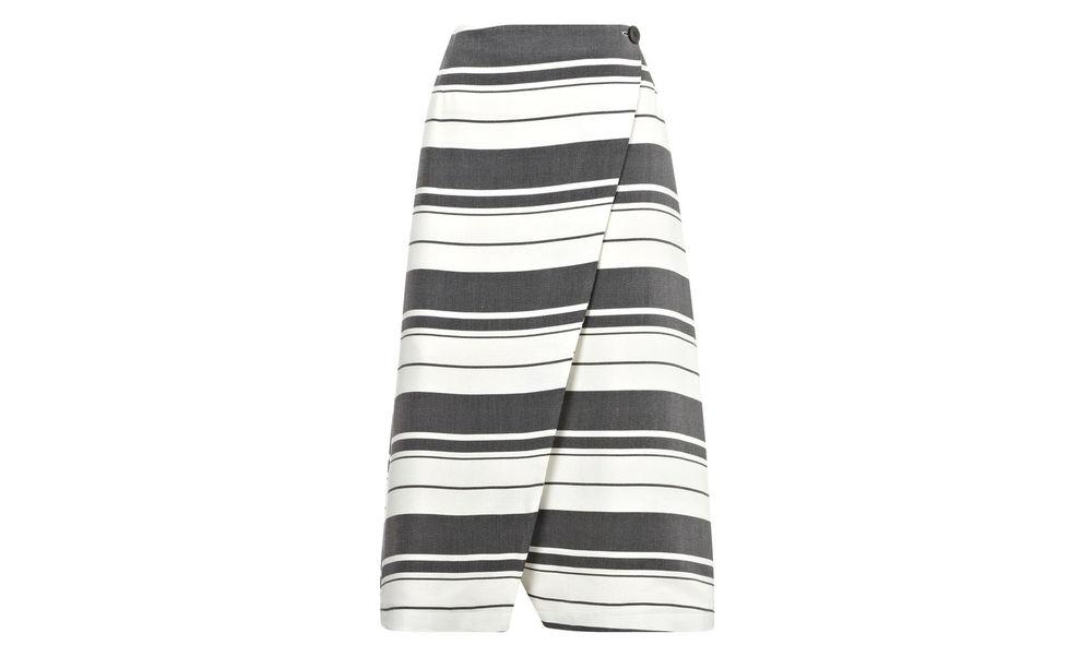 Hayley Stripe Wrap Skirt. Whistles UK. $270.