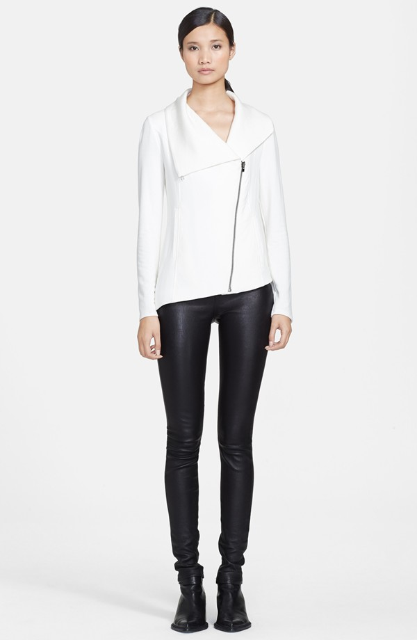 Helmut Lang Villous Zip Front Sweatshirt. Nordstrom. $230. (Your size in the white is coming and going.)