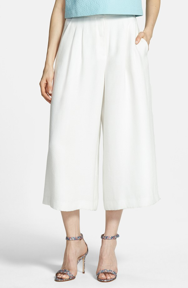 Chelsea28 Pleated Culottes. Available in white, navy. Nordstrom. $88.