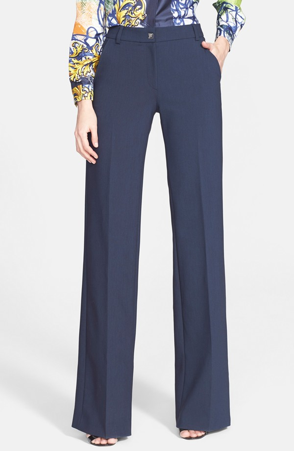 Versace Collection Wide Leg Stretch Cady Pants. Nordstrom. $475.