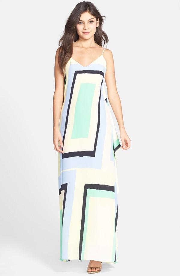 Charlie Jade Print Silk Trapeze Maxi Dress. Nordstrom. $218.
