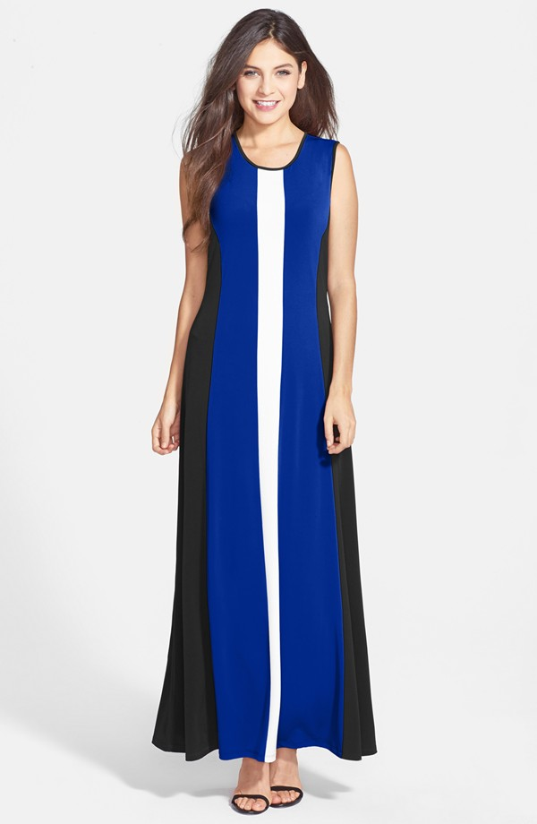 Marc New York by Andrew Marc Colorblock A Line Maxi Dress. Nordstrom. $118.