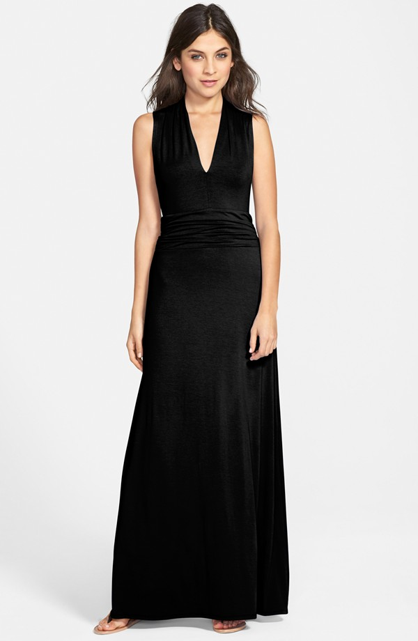 Vince Camuto Cutaway Shoulder Shirred Waist Jersey Maxi Dress. Nordstrom. $119.