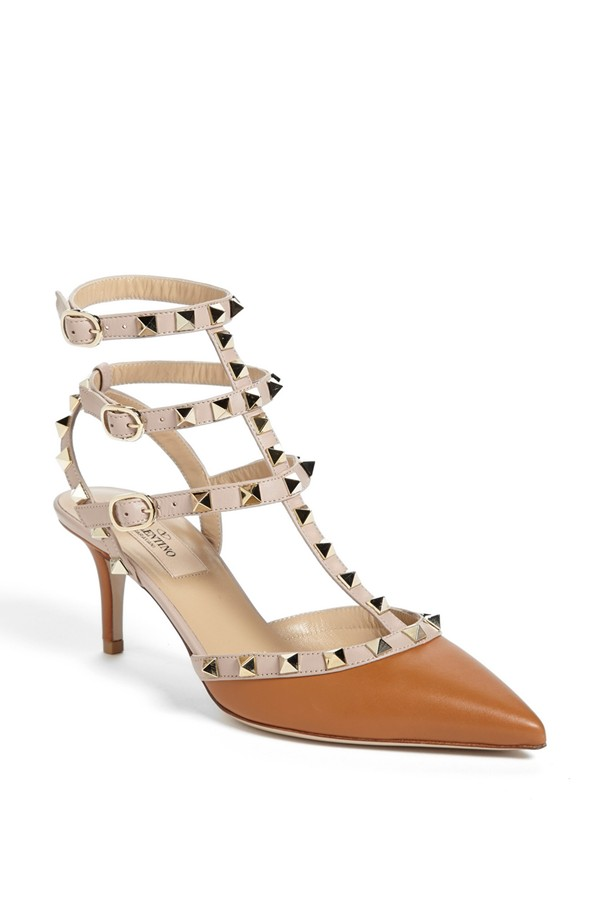 Valentino Rockstud Triple Ankle Strap Pump. Available in multiple colors and strap options. Nordstrom. $995.