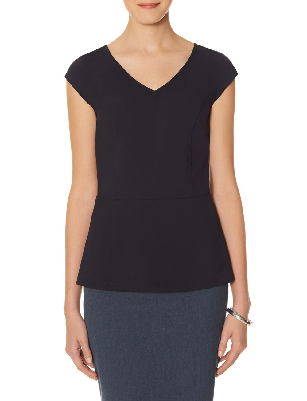 V Neck Peplum Top. Available in navy, black, light grey, mauve. the Limited. $59.95. Buy one get one 1/2 off.