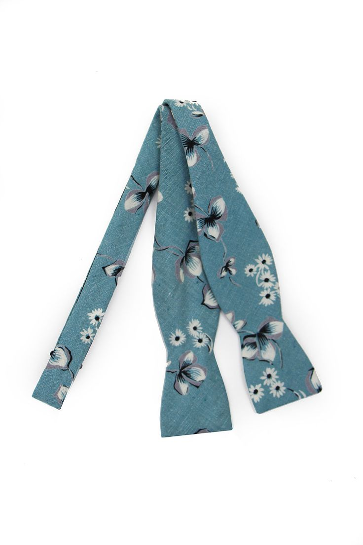 General Knot 40's Beach Glass Floral Bow Tie. Hammer & Awl. $78.