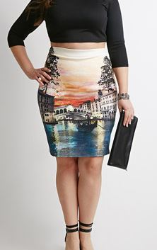 Gondola Graphic Pencil Skirt. Forever 21+. $17.90