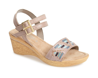 'Padova' Double Strap Wedge Sandal. Nordstrom. Also comes in black, tan and white. $69.95