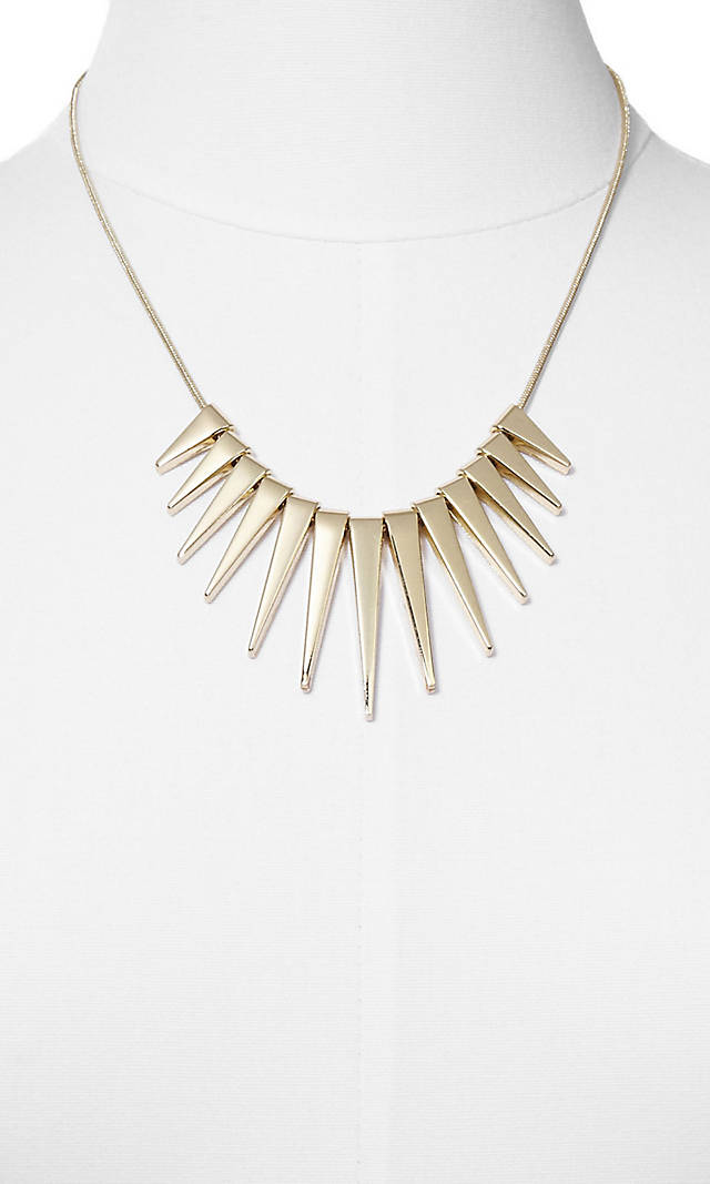 Graduated Spike Necklace. Express. $29.90 Buy One Get One 50% off.