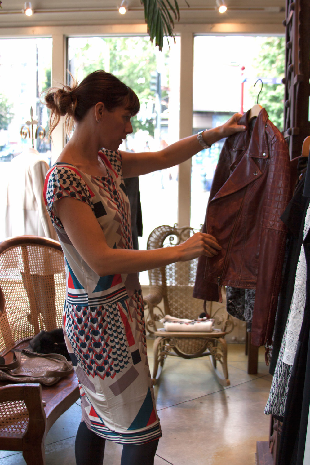 Finding JUST the right thing at local boutique  Alhambra . Photography by  Selena Kearney .