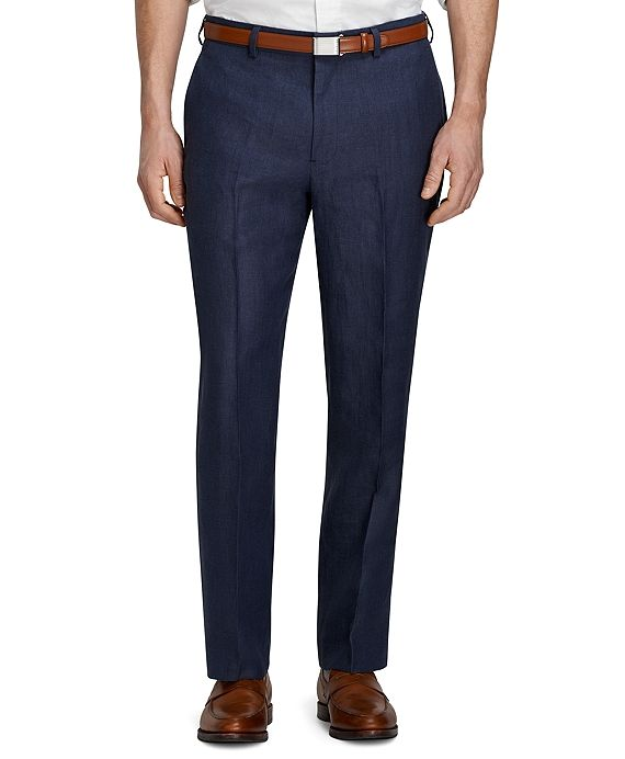 Fitzgerald Fit Plain Front Herringbone Linen Dress Trousers. Brooks Brothers. Was: $148 Now: $88.