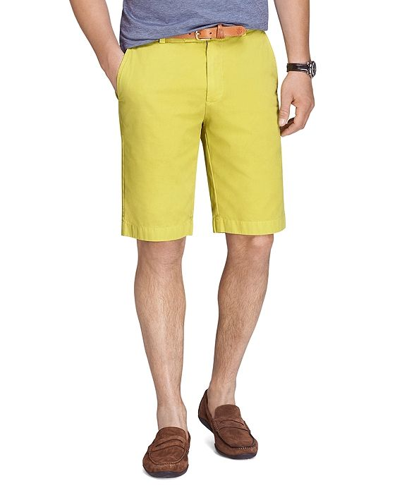 Men's Garment Dyed 11 inch Lightweight Cotton Blend Bermuda Short. Available in multiple colors. Brooks Brothers. Was: $85 Now: $34.