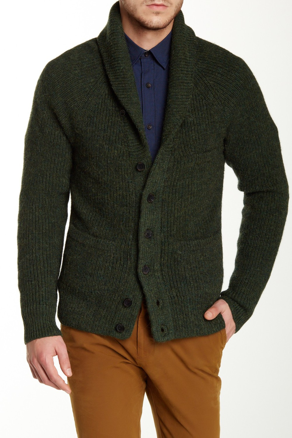 Apolis Genuine Suede Leather Elbow Patch Cardigan. Nordstrom Rack. Was: $324 Now: $129.