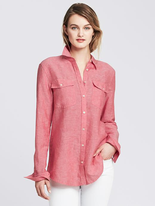 Soft Wash Linen Cotton Shirt. Banana Republic. Was: $79 Now: $65.