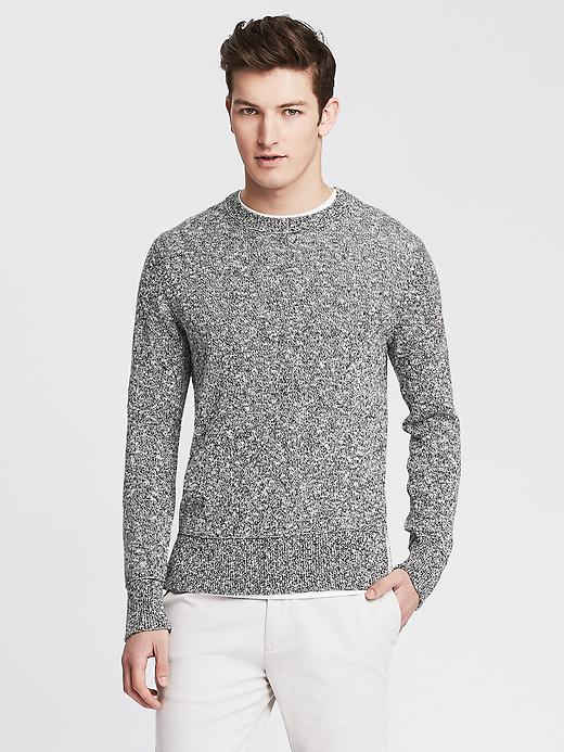 Men's Marled Crew Pullover. Banana Republic. $89.50.