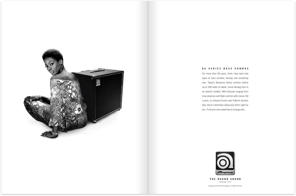 Just a sample of the Ampeg ad campaign.