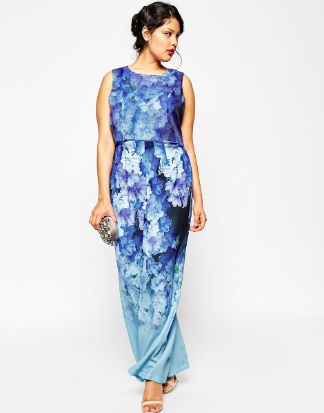 Jumpsuit in Falling Flower Print. ASOS Curve. $136.00
