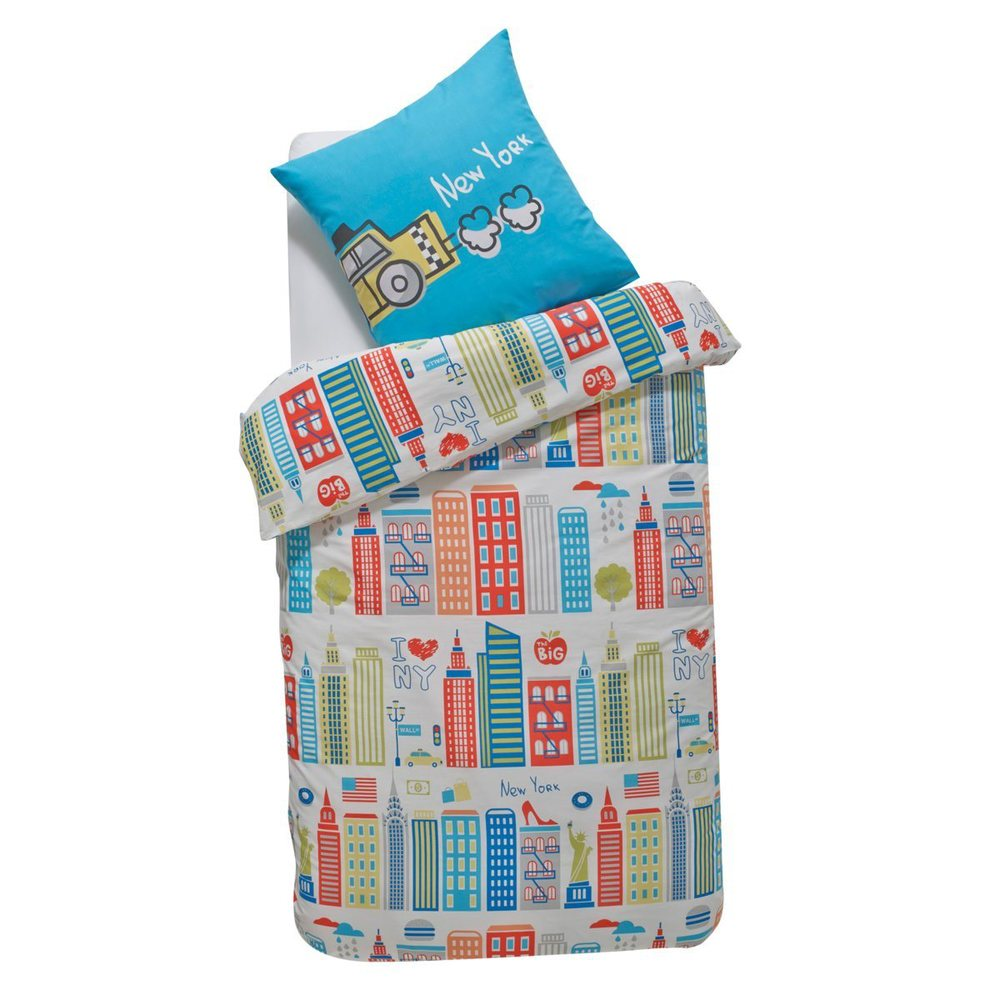 Child's New York Cotton Duvet Cover and Pillowcase Set. La Redoute. Now: $34.