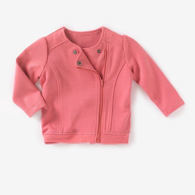 Baby Girl Biker Style Cardigan With Zip and Press Stud Fastening. La Redoute. Now: $24.